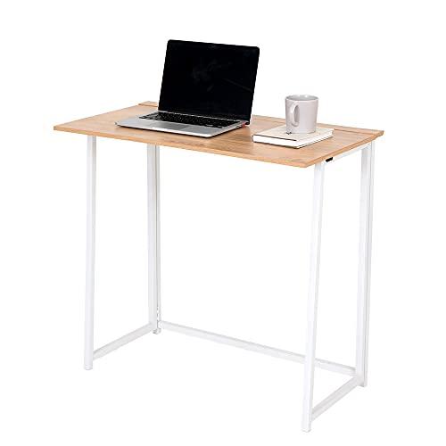 HEUTE Mesa plegable para ordenador, mesa de oficina, mesa de estudio, portátil, para el hogar y la oficina, 80 x 45 x 75 cm