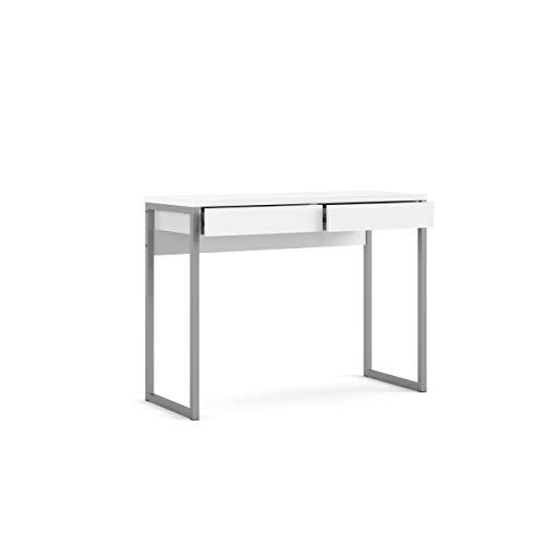 Tvilum 2 Drawer Desk, White High Gloss