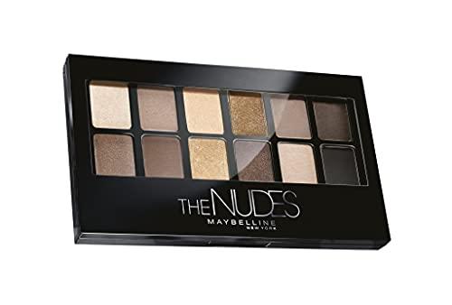 Maybelline New York The Nudes Palette Ombretti, 12 Colori Sulle Sfumature del Nudo, Finish Mat, Satinato e Perlato