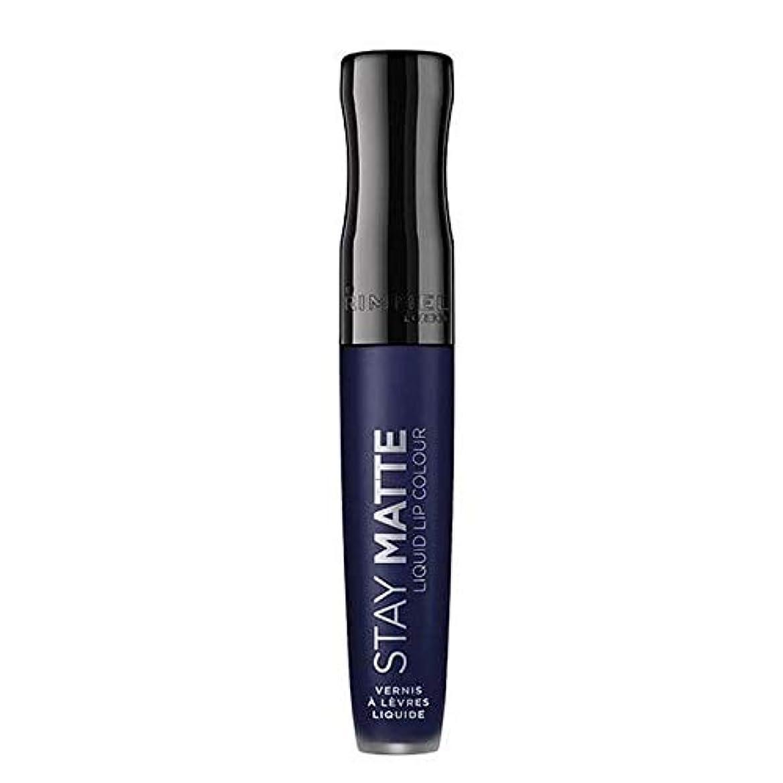 置くためにパックコカインヒロイン[Rimmel ] リンメルステイマット液状口紅ブルーアイリス830 - Rimmel Stay Matte Liquid Lipstick Blue Iris 830 [並行輸入品]