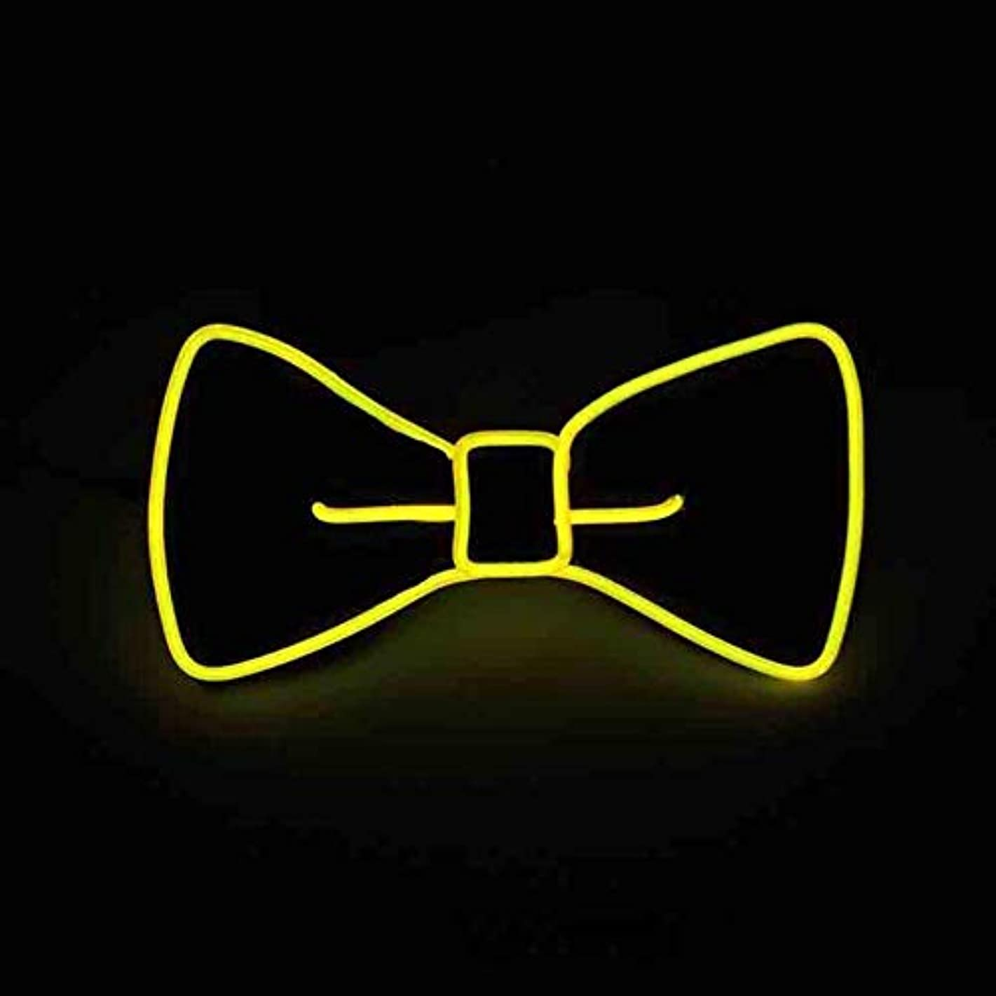 Glaray Luminous Bow Tie Novelty Adjustable EL Wire LED Light Up Glowing Bowtie