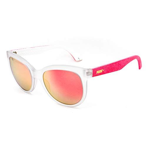 PUMA Damen PU0041S-008 Sonnenbrille, rosa-trasparente, 54/20/140