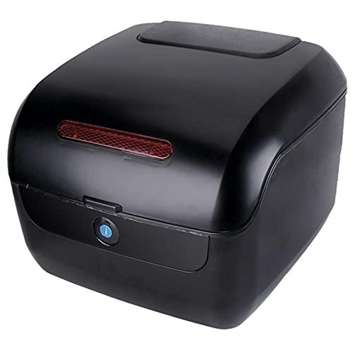 JKGHK Baúl Moto, Caja de Almacenamiento para Casco de Equipaje, Caja Superior para Maletero, Caja Trasera Universal para Ciclomotor/Scooter, con Cerradura, con Hardware De Montaje Universal
