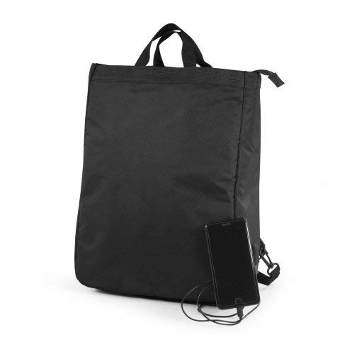 Citizen Green – Black Backpack – Laptop Bag 17 Inches – USB Port – 100% Recycled Pet – Semi-Removable and Adjustable Shoulder Straps – 33 x 42 x 12.5 cm