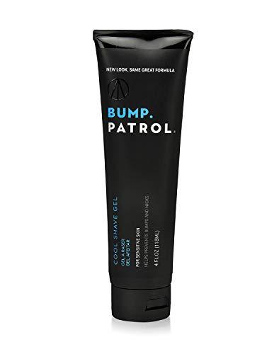 Bump Patrol Cool Shave Gel - Sensitive Clear Shaving Gel With Menthol Prevents Razor Burn, Bumps, Ingrown Hair - 4 Ounces