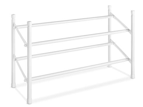 Whitmor 6023–210erweiterbar und stapelbar Schuhregal, weiß