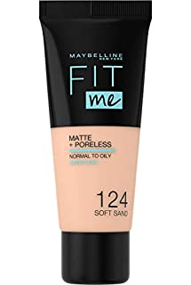 Maybelline New-York - Fond de Teint Fluide Fit Me Matte & Poreless - Peaux normales à grasses - Teinte : 124 Sable - 30 ml (B078J4SZ7V) | Amazon price tracker / tracking, Amazon price history charts, Amazon price watches, Amazon price drop alerts