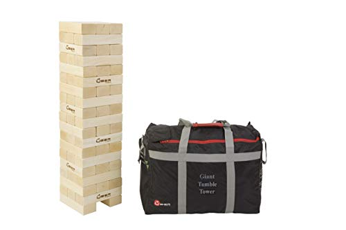Uber Games Tumble Tower - Giant Hardwood - Grows from 3 feet to 5 feet
