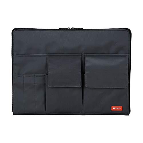 リヒトラブ バッグインバッグ A4 黒 A7554-24×3個:1個×3