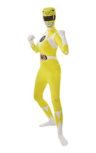 Rubie's, Costume Ufficiale da Supereroe Power Ranger Giallo per Adulte