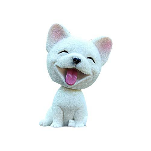 AzuNaisi Auto Verzierungen Netter Kopf schütteln Wackelhund Welpen Figuren Wackelkopf Hund Puppe spielt Auto Innendekoration Geschenke (Französisch Bulldog) Autoaccessoires