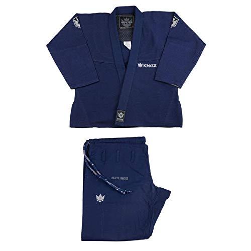 Kingz BJJ Gi Balistico 3.0 Azul Marino Edición Limitada Jiu Jitsu Kimono BJJ Uniforme Gi - Azul Marino, A3L