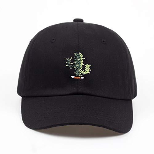 YIERJIU Gorra Gorras Beisbol Nueva Marca Snapback Negro Cactus Bordado papá Sombrero Hombres Verano Gorras Hip Hop Sombreros para niñas Casquette Homme