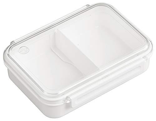 OSK 弁当箱 まるごと 冷凍弁当 ホワイト 800ml タイトボックス (仕切付) (日本製) PCL-5S