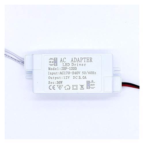 Duradero Driver DC12V 6-60W Nuevo 1A a 5A para la fuente de alimentación de AC220V Control de voltaje de corriente de corriente Transformadores de iluminación para proyecto informático, luz exterior