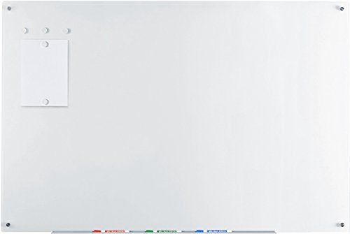 Audio-Visual Direct Magnetic Ultra White Glass Dry-Erase Board Set - 39 1/2 x 59 Inches -