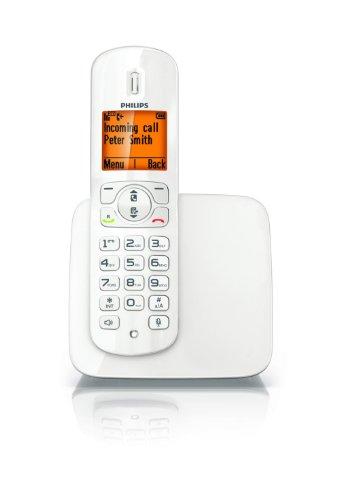 Philips CD2801W/IT Schnurlostelefon, Farbe: weiß glänzend