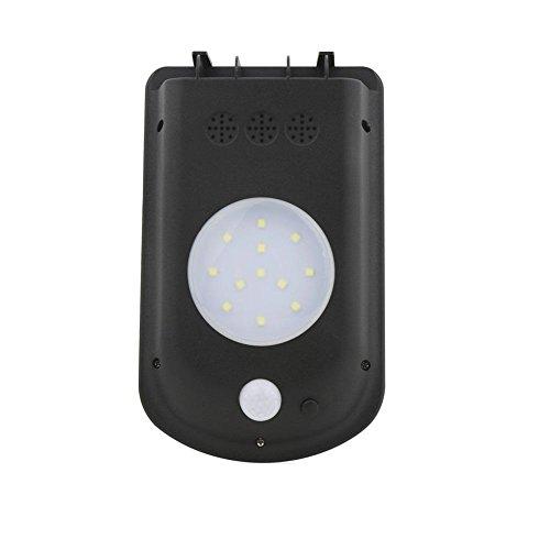 HomJo LED Lumières extérieures solaires Éclairage Éclairage Éclairage Éclairage mural Lumière capteur de mouvement Lumières pour décoration de jardin