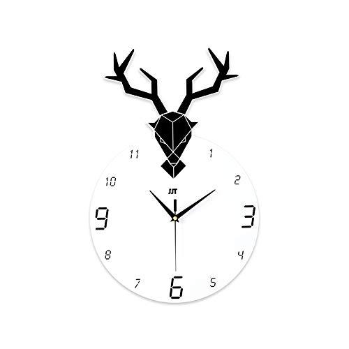 DC Wesley De Estilo Europeo Reloj de Pared Ciervos Personalidad Creativa Nórdico de casa Moderna Sala de Estar de la Manera Minimalista Relojes atmósfera Reloj Decorativo 50 * 33cm