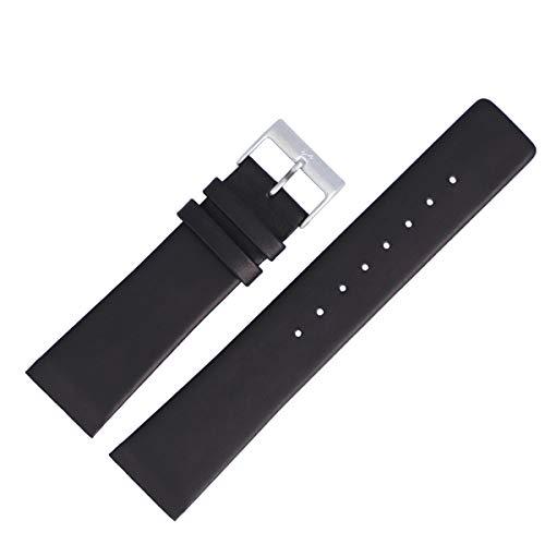 Skagen Uhrenarmband 22mm Leder Schwarz Glattleder XL - 233XXLSLB / 233XXL