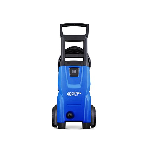 Nilfisk C 120 bar 120.7-6 X-TRA Compact Pressure Washer for Basic Tasks (UK), 240 V, Blue, 30.6 x 25.1 x 71 cm