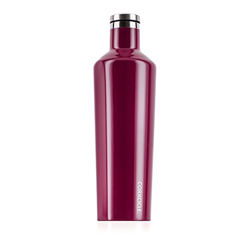 Corkcicle Canteen Classic Collection - Water Bottle & Thermos - Triple Insulated Shatterproof Stainless Steel, Gloss Merlot, 25 oz