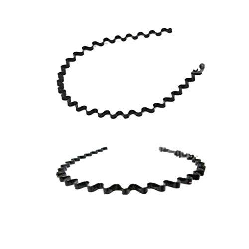 Guangcailun Schwarz Unisex Hairwellenförmige Stirnband für Gesicht waschen für Sport Mode Haarschmuck