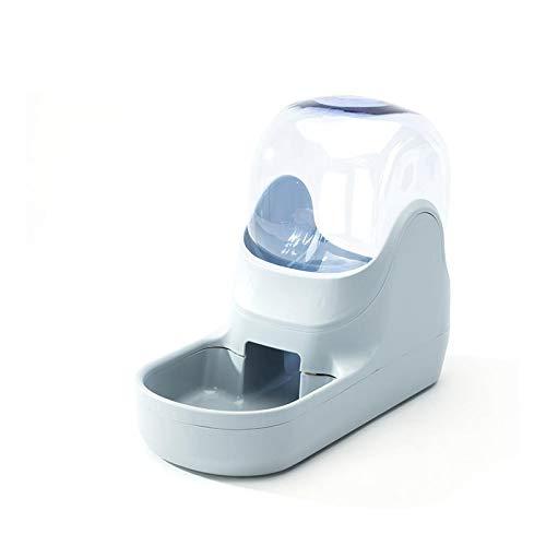 Rayber Comedero y dispensador de agua, dispensador automático para gatos, cachorros, conejos, gris, dispensador de alimento: 35,5 x 17,5 x 27 cm