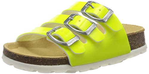 Superfit Mädchen Fussbettpantoffel Pantoffeln, Gelb (Gelb 60), 27 EU