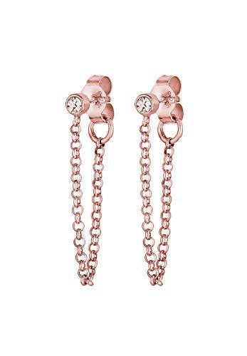 Elli Ohrringe Damen Kette Trend Geo mit Swarovski® Kristalle in 925 Sterling Silber