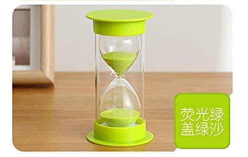 砂時計5分/ 10分/ 15分/ 20分/ 30分/ 45分/ 60分学校、キッチン、家の装飾のためのクッキングゲーム練習砂時計タイマー (緑, 15分)