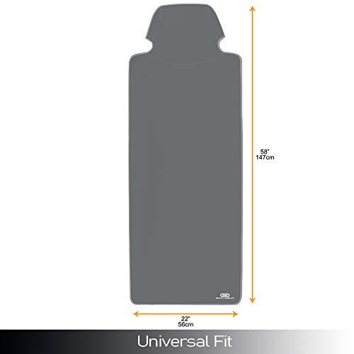 Gorla Gear Gray Premium Universal Fit Waterproof Stain Resistant Grey Car Seat Cover Neoprene Non-Slip Bucket Seat Dog