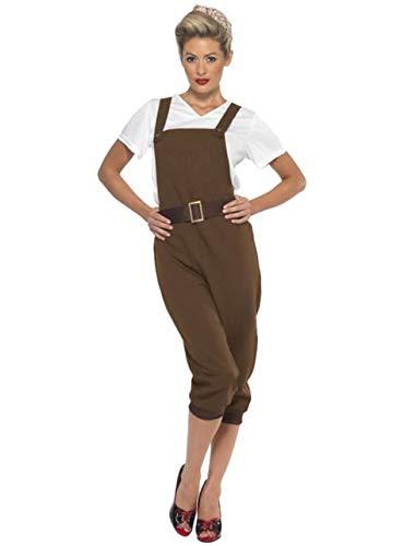 Bruin Tweede Wereldoorlog kostuum voor vrouw