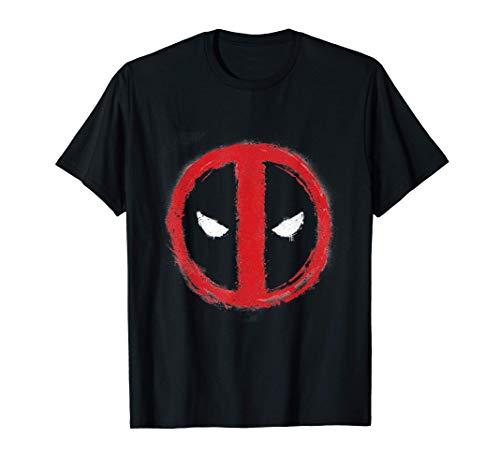 Marvel Spray Painted Deadpool Icon Camiseta