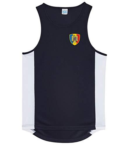 Nation Rumänien Trikot Tank Top Athletic Sport Gym ATH BR-SC (XXL)