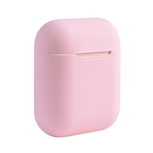 Baorio Kopfhörer Silikon Hülle Fitting Soft Silikon Case für Apple Airpods Stoßfest Cover für Apple AirPods Earphone Cases Protector Case Pink