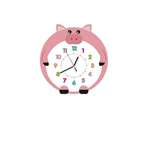 MQH Reloj Reloj de Pared Linda Sala de Estar Dormitorio Simple silencioso Reloj Personalidad Moda Artista para la decoración del hogar Reloj de Pared Alta precisión (Color : 37 * 40cm)