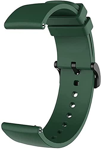 ZHUZE Handgelenkband Für Huami Amazfit GTS/GTS 2 Mini/BIP S Silikonband Für Amazfit BIP U Strap Ersatz Armbanduhr Zubehör (Color : Black) Dark Green