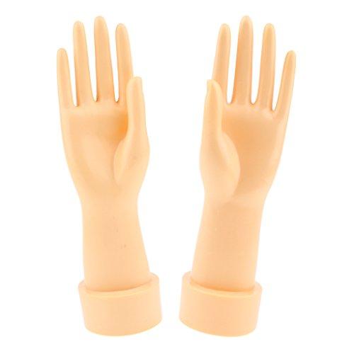 Homyl Weibliche Schaufensterpuppe Hand-Modell Gliederpuppe Mannequin Hand Ideal für Schmuck Ring, Armband, Uhr, Halskette Anzeigen