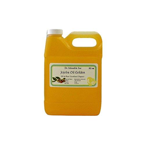 Jojoba Oil Golden Organic 100% Pure By Dr.Adorable 32 oz /1 Quart