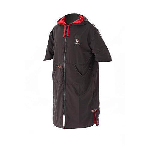 Prolimit Zipper Poncho o Cambio de Toalla para Deportes acuáticos de Playa y Surf - Xtreme Black Red