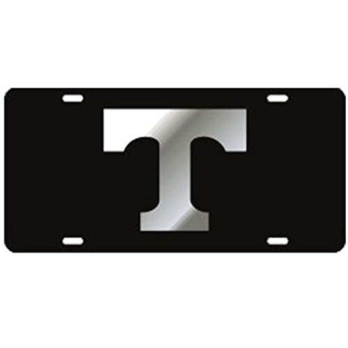 Tennessee Volunteers Black Mirror T Laser Cut License Plate by Craftique