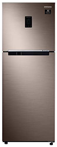 Samsung 324 L 2 Star Inverter Frost-Free Double Door Refrigerator (RT34T4542DX/HL, Luxe Brown, Convertible)