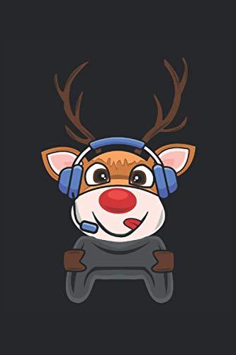 Gaming Reindeer: Notebook a righe, diario, ToDo, quaderno, quaderno (15, 24 x 22, 86 cm; circa A5) con 120 pagine / regalo per gli amanti dei giochi, ... giocatori console, giocatori professionisti