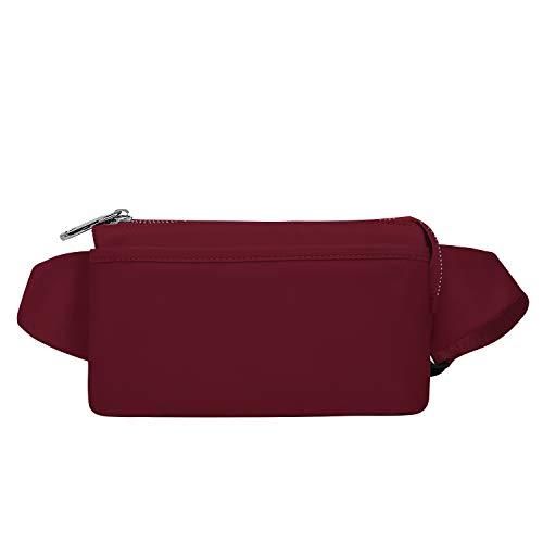 Wind Took Damen Brusttasche Bauchtasche Hüfttasche Handytasche für Party Reise Wanderung Outdoor Alltag Anti-Diebstahl, Rot, 21 x 8 x 12 cm