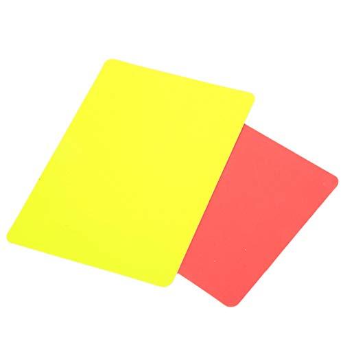FEBT Cartellino Rosso e Giallo da Calcio, Strumento per arbitri Materiale in PVC Giochi di Calcio Strumento per arbitri Cartellino Rosso per arbitri, per la Competizione