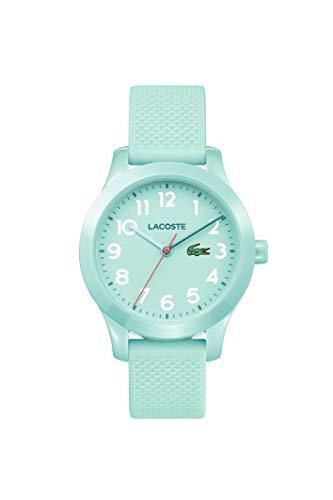 Lacoste Relógio infantil TR90 de quartzo com pulseira de borracha, azul, 14 (modelo: 2030005)