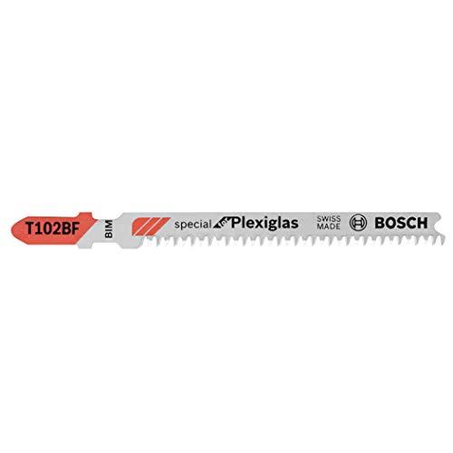 BOSCH T102BF 3-Piece 2-5/8 In. 13 TPI Clean for Plexiglas Bi-Metal Jig Saw Blades
