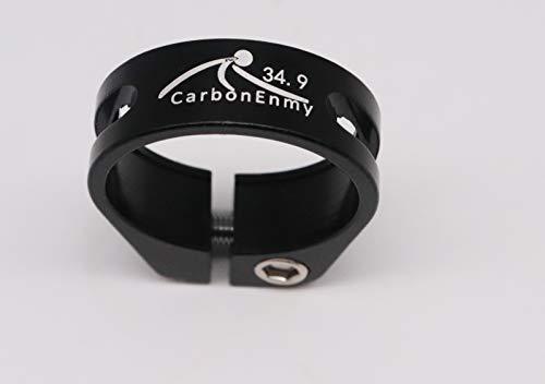 CarbonEnmy Abrazadera de sillín de bicicleta de aluminio, 34,9 mm, color negro