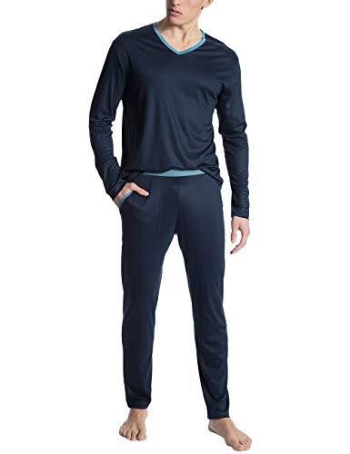 CALIDA Herren I Love Nature Zweiteiliger Schlafanzug, Schwarz (Dark Sapphire 479), Large (Herstellergröße: L)